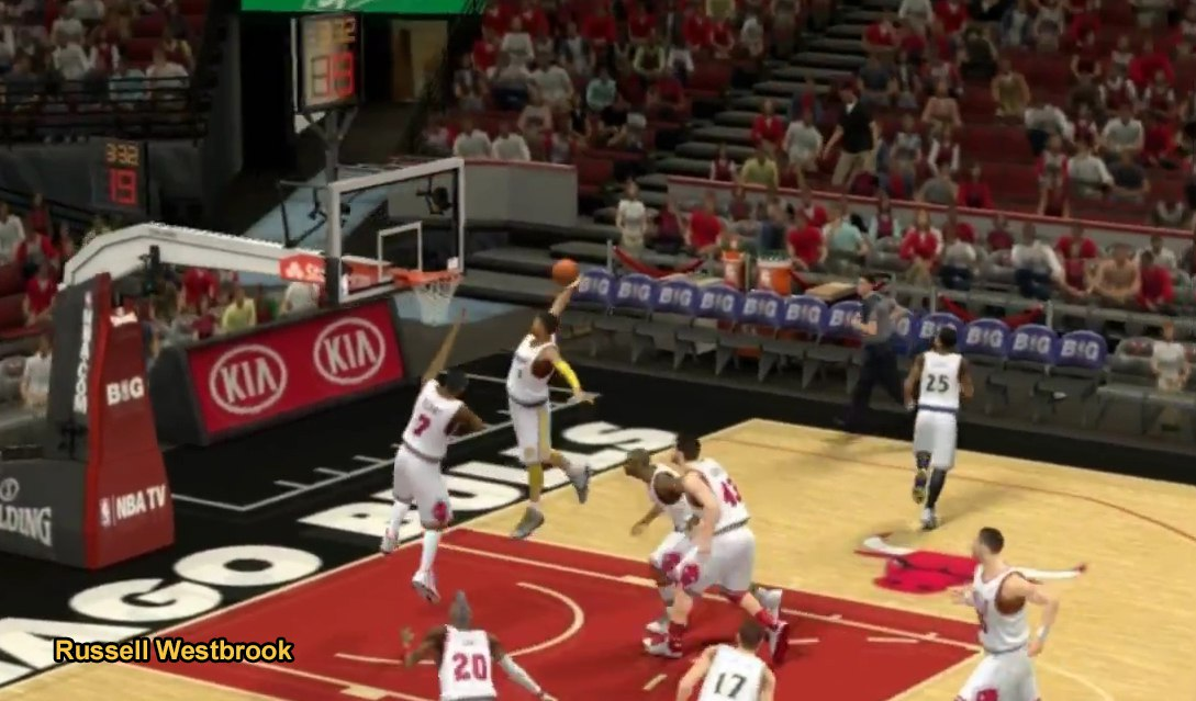Russell Westbrook slam dunk nba2k14