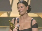 Catherine Zeta-Jones winning an Oscar for