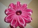 Яркий, объемный цветок в стиле Канзаши. Мастер- класс. / /Ribbon Flower / DIY Kanzashi