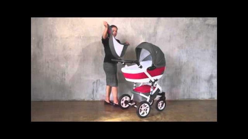 Детская коляска Caretto Riviera f 3 в 1 видео обзор vasilechek.ru модульная универсальная 2 в 1