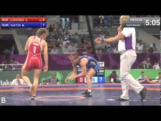 Вольная борьба женщины Баку 2015 финалы до 60, 69 кг