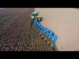 Ploughing w John Deere 8360R &amp 9 furrow Lemken Diamant 12 ERF B.V. Pfl
