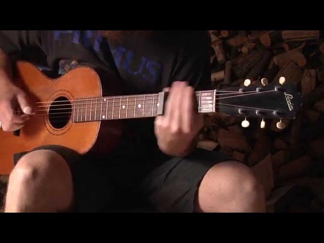 Open D slide blues on a 1930s Levin parlor guitar