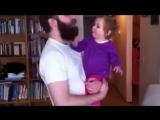 когда ребенок увидел папу без бороды...Смотрите что было