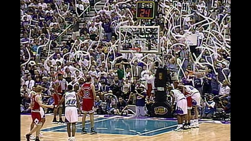 'The Flu Game' Chicago Bulls vs. Utah Jazz 11.06.97 Game 5 Finals Playoffs 1997 1st halftime
