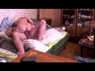 Русская тёлка даёт жару с парнем