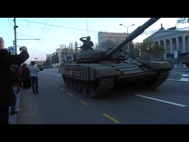 Донецк танки РФ/Rus tanks in Donetsk