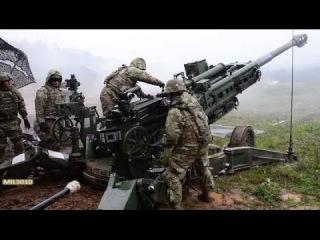 Гаубицы M777 Боевые стрельбы / Американские десантники на полигоне в Словении