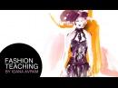 Fashion croquis inspired by Alexander McQueen's Autumn Winter 2015-2016