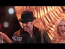 Nick Carter, Sharna Burgess and Peta Murgatroyd dance the Salsa