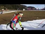 Надя Скарлино на спринте в Хохфильцене