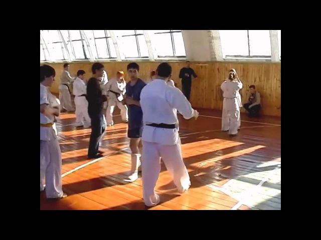 Сергей Плеханов - мастер-класс по ударам ногами в каратэ киокушинкай