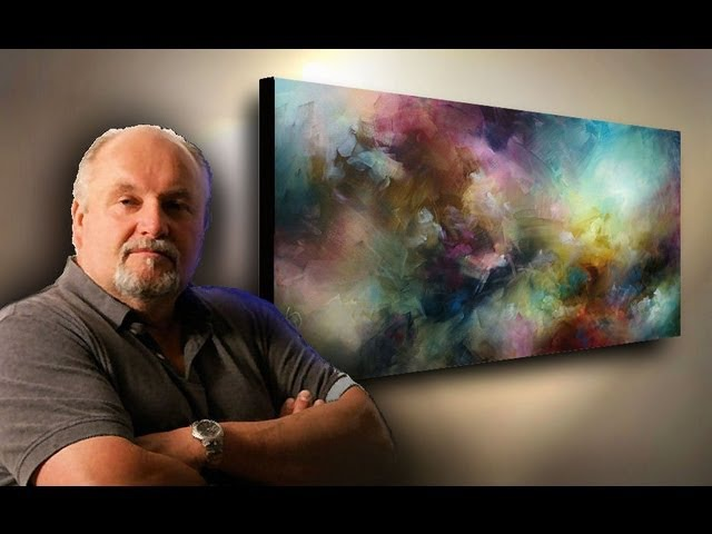 Abstract art painting demo depth movement with simple blending washes Fun Easy