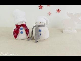 Няшка снеговик из носка ❤Хендмейд❤