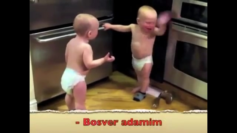 Ikiz bebeklerin konusmasi (Turkce Ceviri ) da-da-da