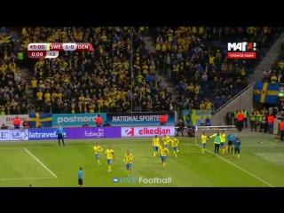 Швеция 1-0 Дания | 45' Эмиль Форсберг Микаэль Лустиг