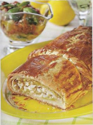 Фото рецепта: Средиземноморский пирог с треской и луком-пореем