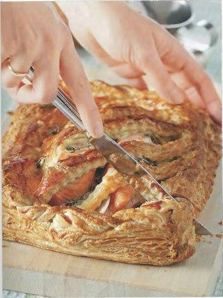Фото рецепта: Имбирный пирог с лососем