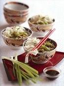 Фото рецепта: Рисовая лапша с грибами