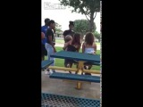 LiveLeak com Girl wants to fight other girl while she's holding her baby