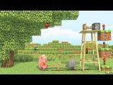 [МЕГО РЖАЧ] Майнкрафт Анимация Свинья, И Яблоко