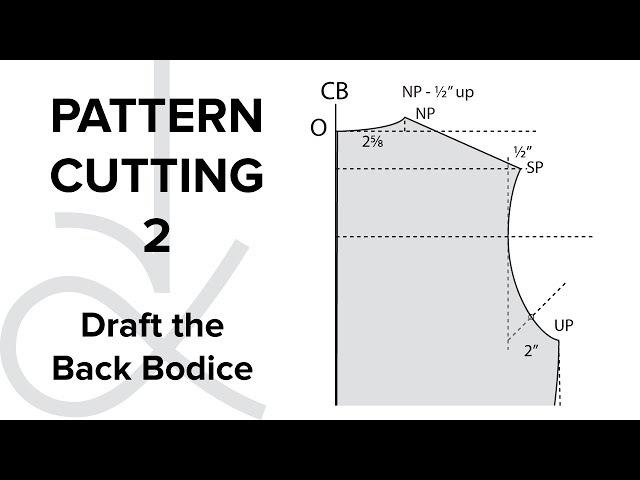 Pattern Cutting Flat Pattern Drafting the Bodice Block part 2