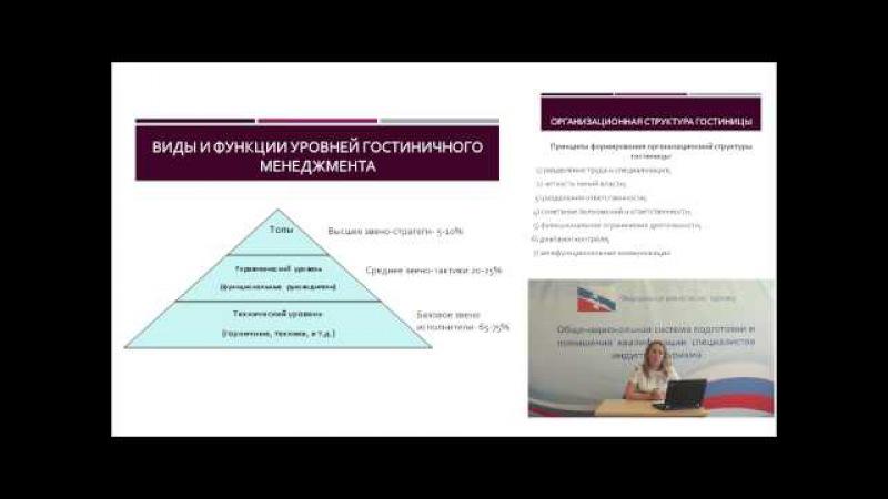1 Стандарты и технологии обслуживания гостей Кисточкина А Н Тема 2 Специфика организационной стру