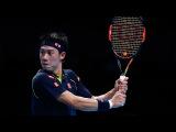 2015 Barclays ATP World Tour Finals - Nishikori hits stunning backhand pass v Federer