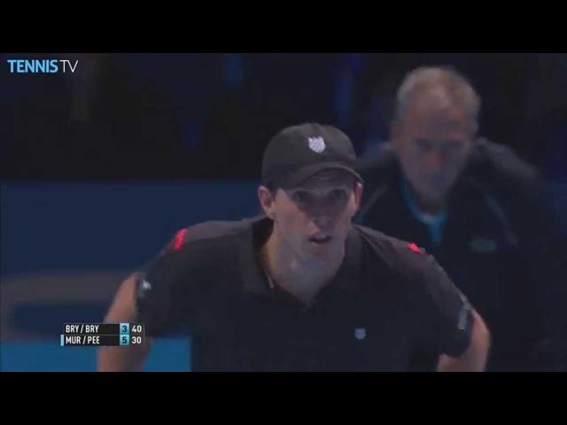 2015 Barclays ATP World Tour Finals - Bob Mike Bryan doubles hotshot