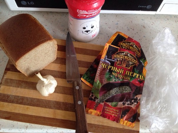 Как сделать из хлеба сухарики в микроволновке