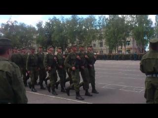Присяга связи и автороты 25 июля 2015г. Прохождение торжественным маршем.
