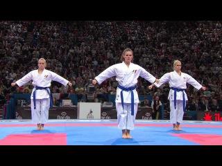 (2/2) Bronze Female Team Kata Venezuela vs France. WKF World Karate Championships 2012