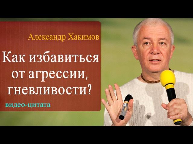 Как избавиться от агрессии и гневливости? Александр Хакимов