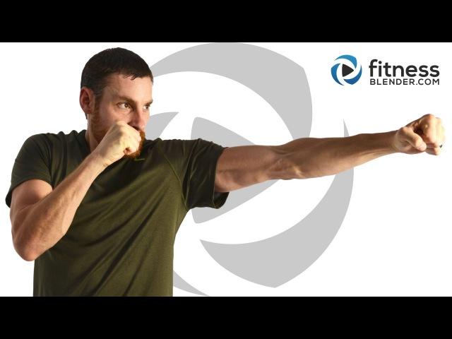 FitnessBlender - Cardio Kickboxing Abs Workout | Кардио-тренировка на основе кикбоксинга с акцентом на живот