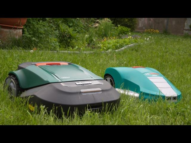 Робот газонокосилка Bosch Indego и Robomow RS612, сравнение и большой тест