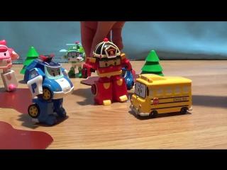 Мультфильмы про машинки - игрушечные машинки Робокар Поли - автомойка