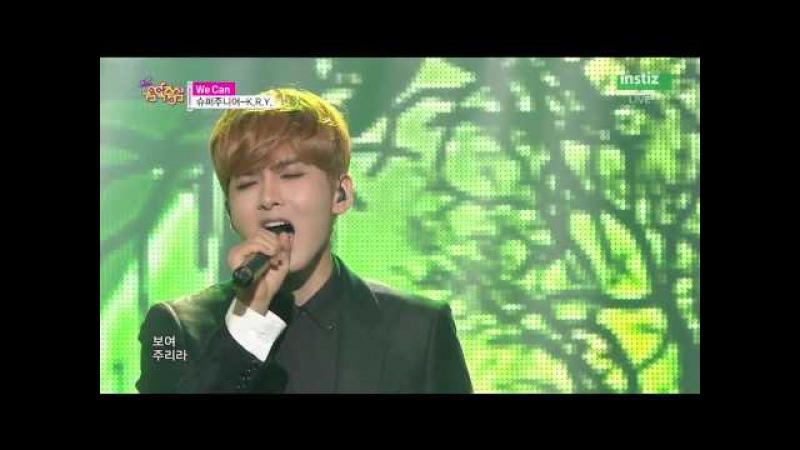 [Live HD 720p] 150718 SUPER JUNIOR-K.R.Y(슈퍼주니어-K.R.Y) - We Can @ Music Core