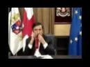 Саакашвили жует свой галстук Saakashvili eats his tie