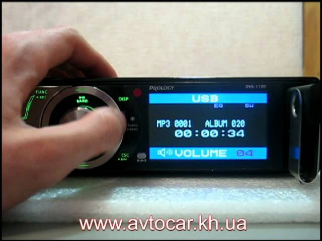 Видеообзор автомагнитолы PROLOGY DVS 1120