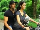 Katrina Kaif takes Hrithik for a ride!