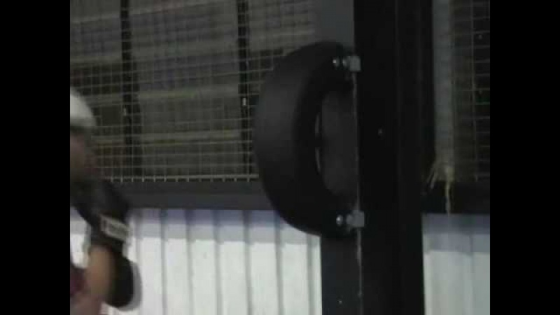 Car Tyres (Tires) in Boxing Training