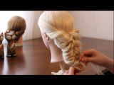 Свадебная причёска с помощью резинок