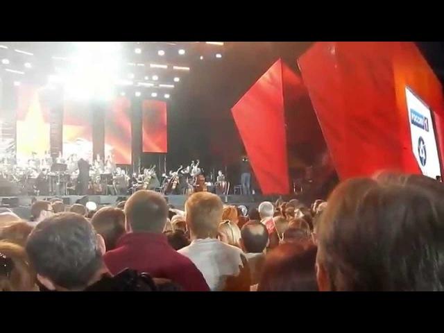 Дмитрий Хворостовский потрясающий концерт на ВДНХ 9 мая 2015 года и праздничный салют Hvorostovsky