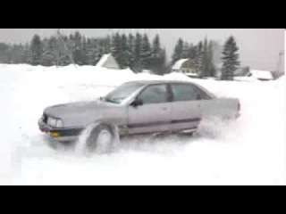 Уборка снега 2 Audi 200 quattro