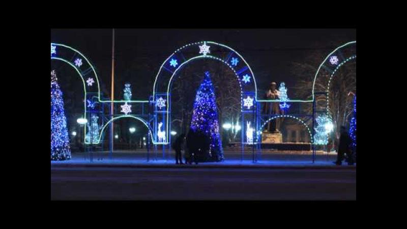 Луганск новогодний снег