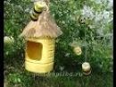 Пчелы с улием из пластиковых бутылок Мастер класс