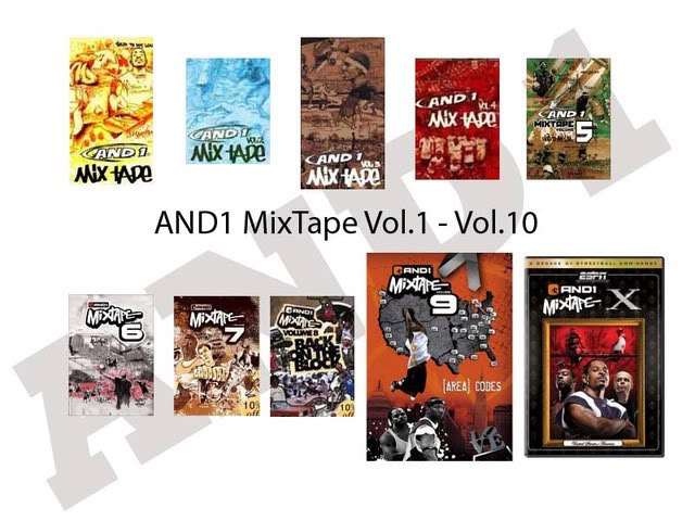 And1 Mixtape vol.1-10 + Asia Pacific Soundtrack