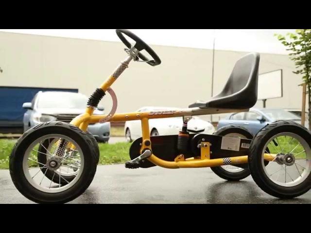 Велокарт Unix желтый - Unix Kart,четырехколесный велосипед для детей
