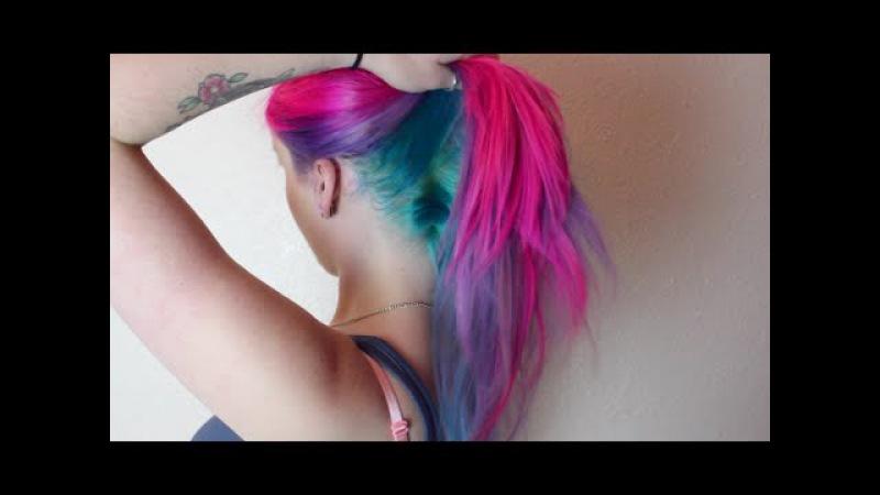 Magenta, Violet Turquoise Hair Dye Tutorial