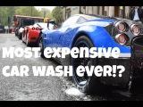 $MULTI-MILLION SUPERCAR CAR WASH IN CENTRAL LONDON!